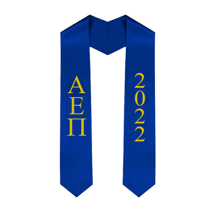 Alpha Epsilon Pi Vertical Grad Stole with Letters & Year