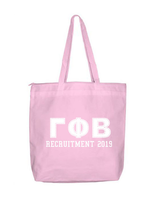 Gamma Phi Beta Collegiate Letters Event Tote Bag
