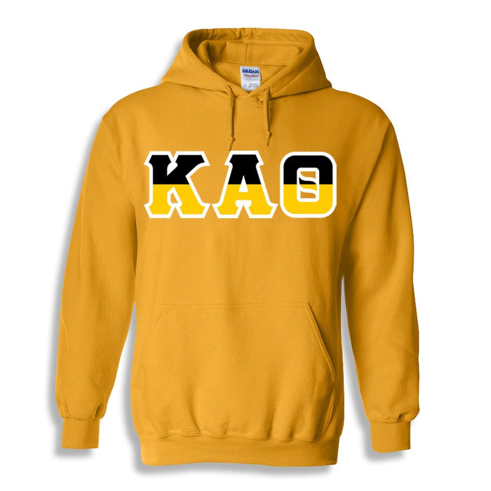 Kappa Alpha Theta Two Toned Lettered Hooded Sweatshirt