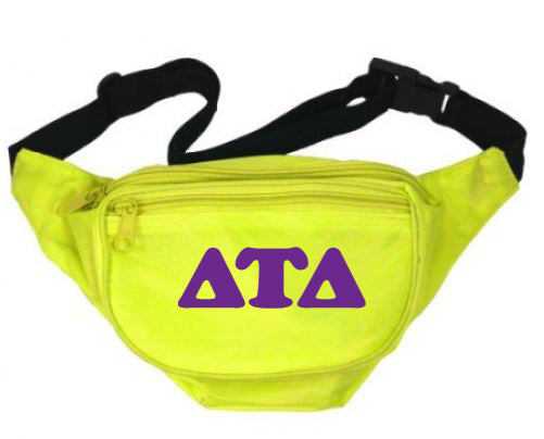 Delta Tau Delta Letters Layered Fanny Pack