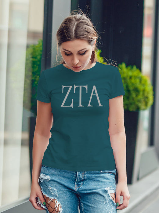 Zeta Tau Alpha University Letter T-Shirt