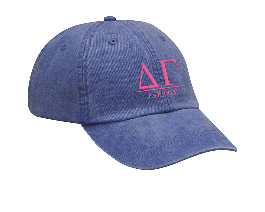 Delta Gamma Letters Year Embroidered Hat