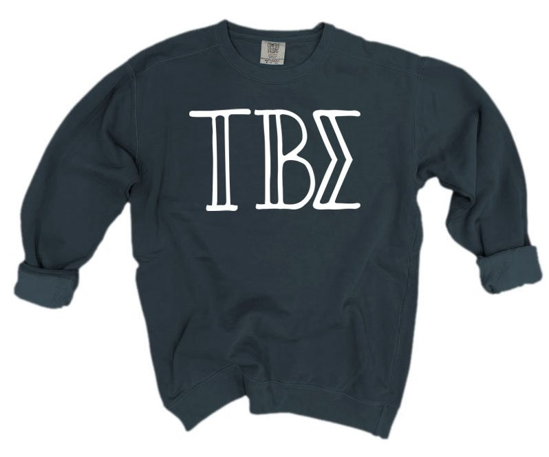 Tau Beta Sigma Comfort Colors Greek Letter Sorority Crewneck Sweatshirt
