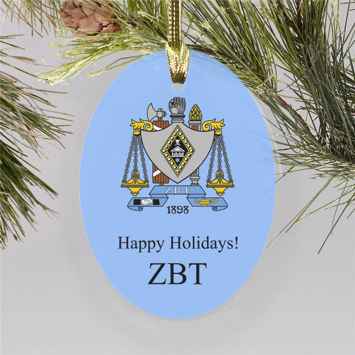 Zeta Beta Tau Color Crest Ornament