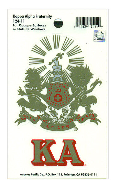 Kappa Alpha Crest Decal