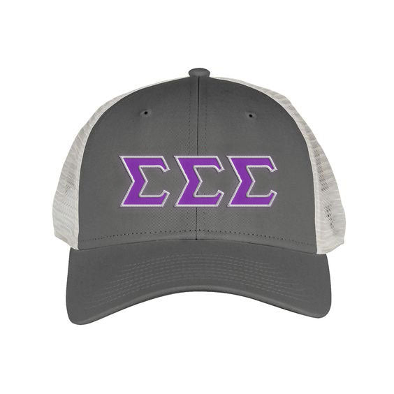 Sigma Sigma Sigma Greek Trucker Cap