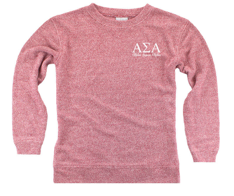 Alpha Sigma Alpha Lettered Cozy Sweater