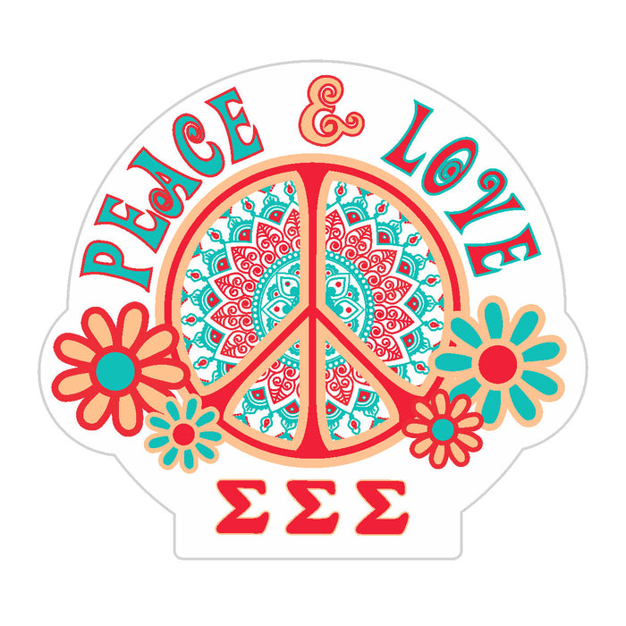 Sigma Sigma Sigma Peace Sticker
