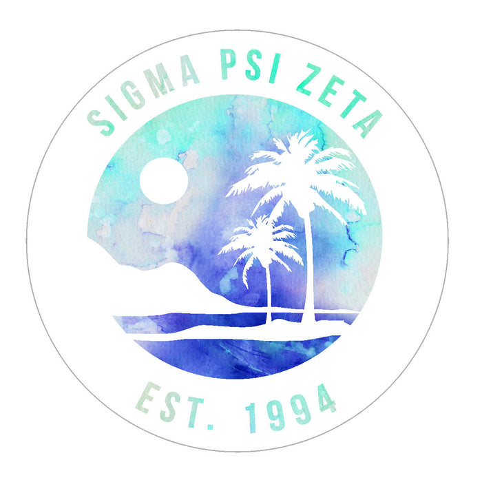 Sigma Psi Zeta Oasis Sticker