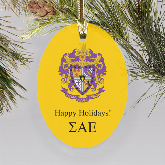 Sigma Alpha Epsilon Color Crest Ornament