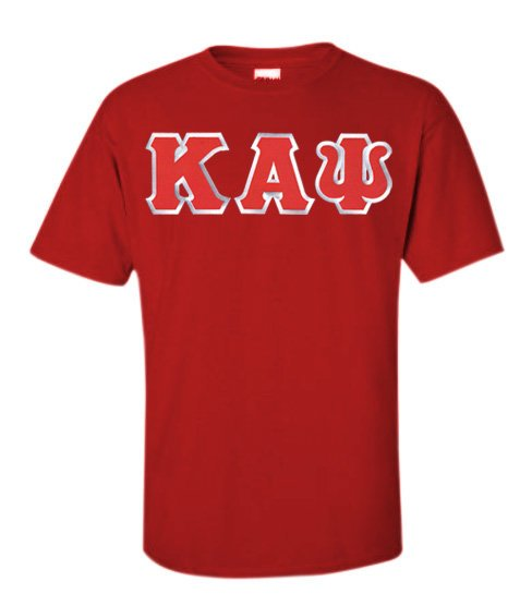 Kappa Alpha Psi Short Sleeve Crew Shirt with Sewn-On Letters
