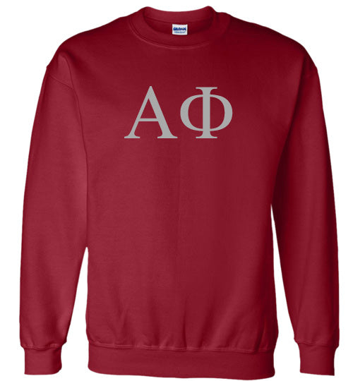 Alpha Phi World Famous Lettered Crewneck Sweatshirt