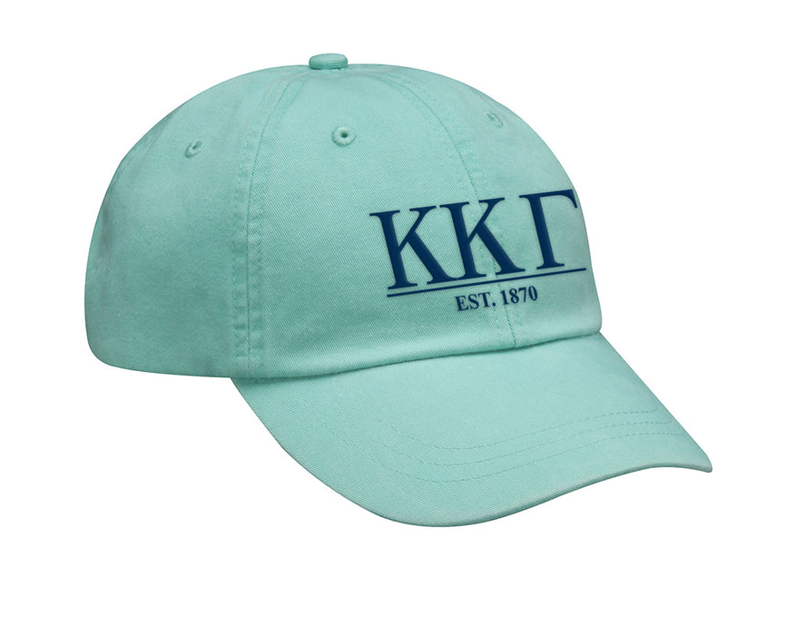 Kappa Kappa Gamma Letters Year Embroidered Hat