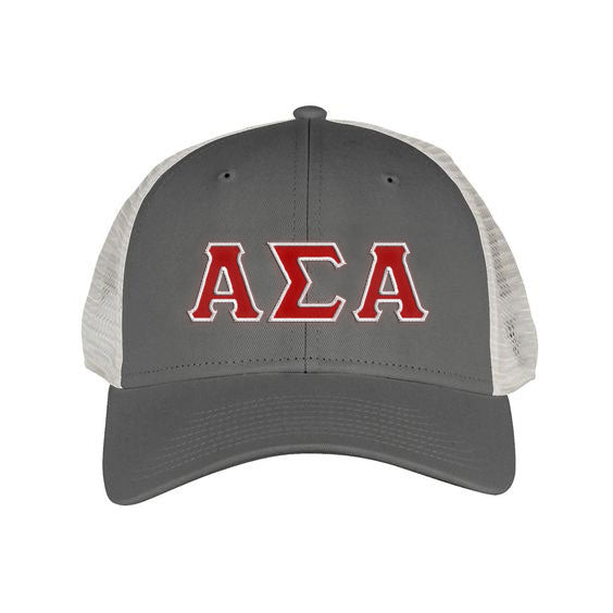 Alpha Sigma Alpha Greek Trucker Cap