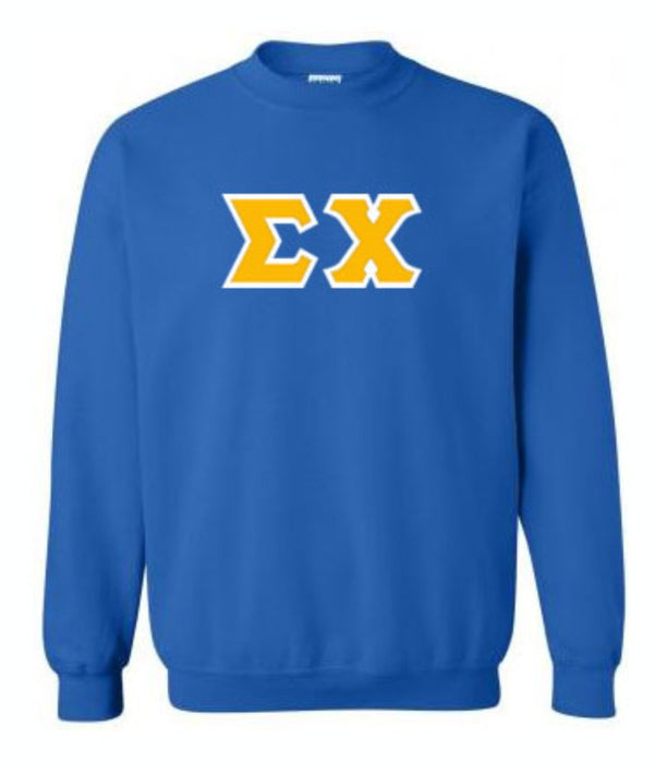 Sigma Chi Classic Colors Sewn-On Letter Crewneck