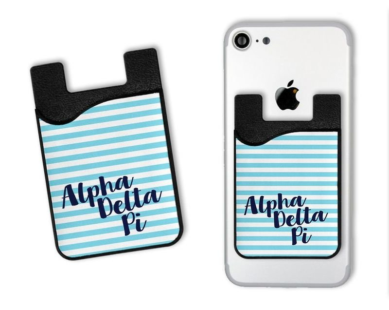 Alpha Delta Pi Sorority Stripes Caddy Phone Wallet