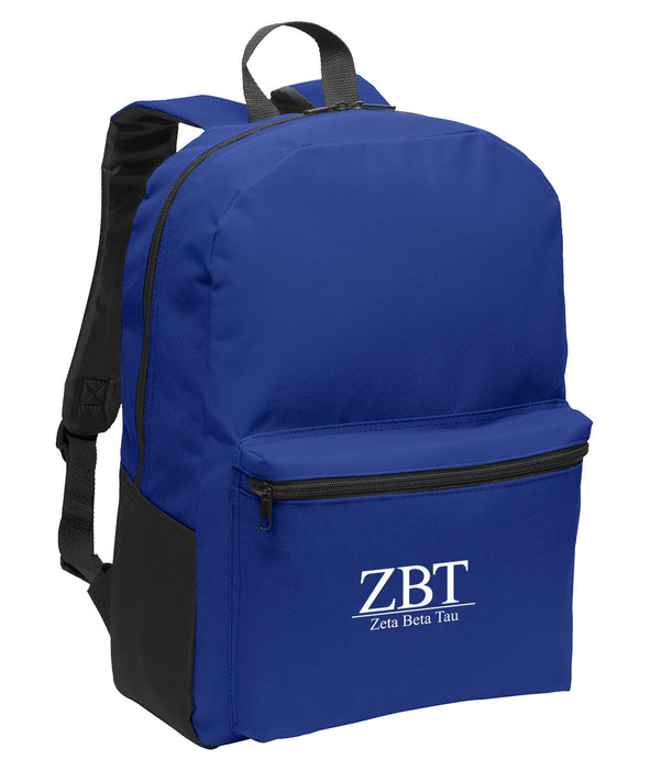 Zeta Beta Tau Collegiate Embroidered Backpack