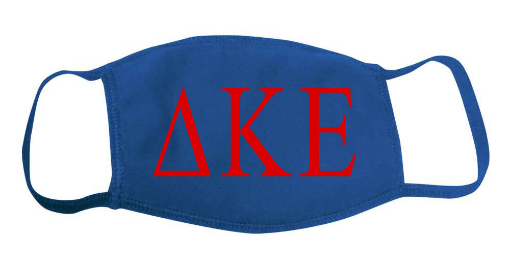 Delta Kappa Epsilon Face Mask With Big Greek Letters