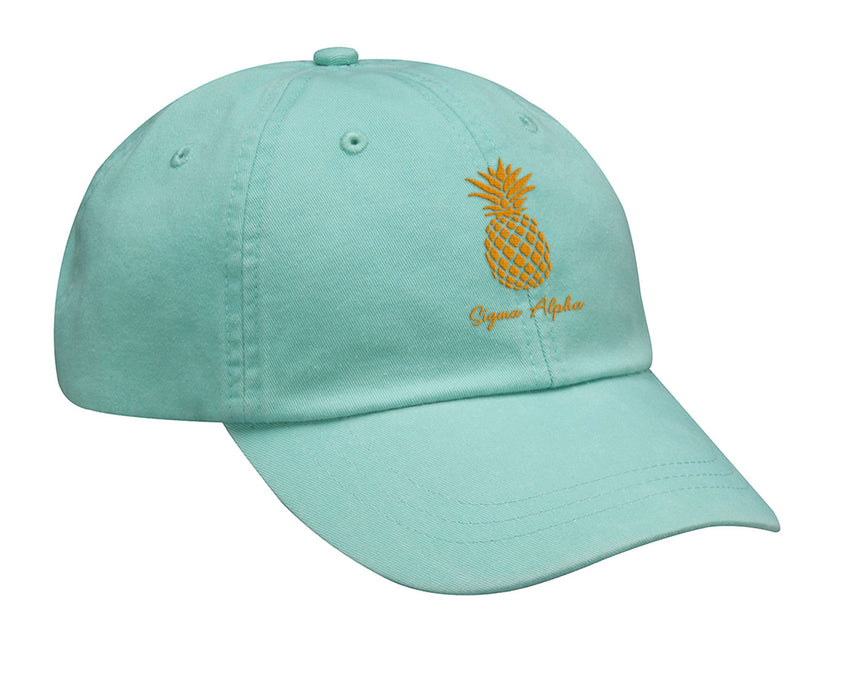 Sigma Alpha Pineapple Embroidered Hat