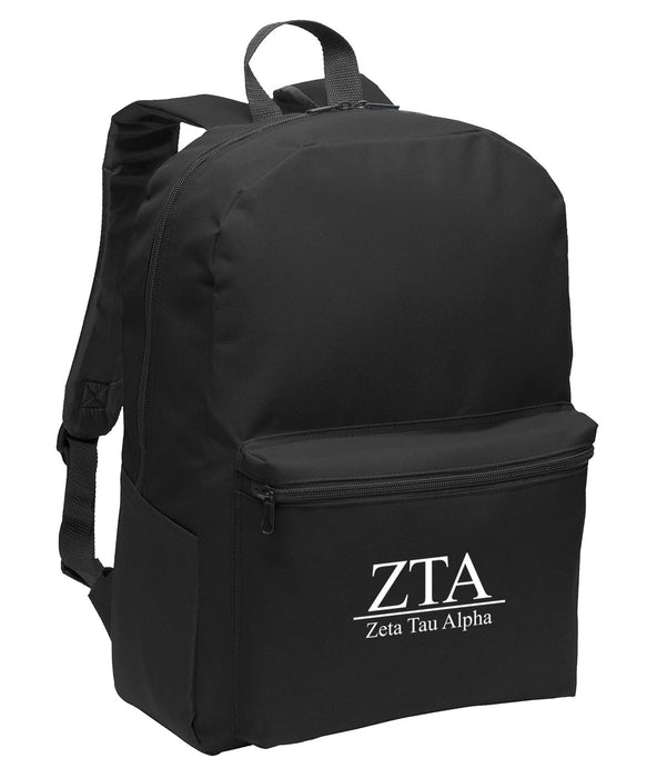 Zeta Tau Alpha Collegiate Embroidered Backpack