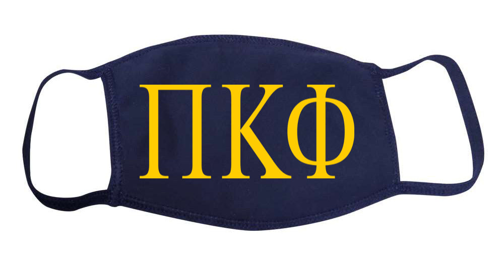 Pi Kappa Phi Face Mask With Big Greek Letters