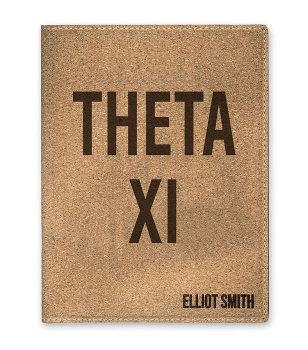 Theta Xi Cork Portfolio with Notepad