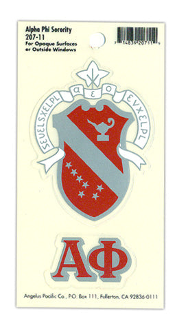 Alpha Phi Crest Decals Crest Decal