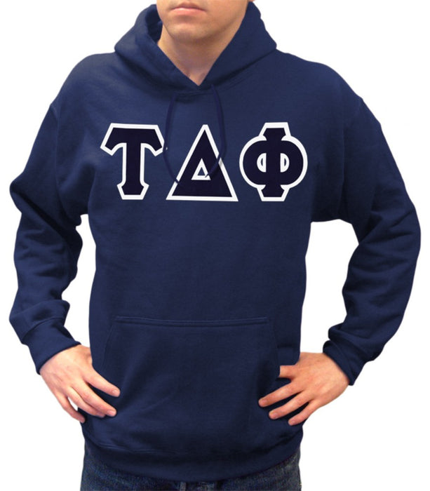 Tau Delta Phi Classic Colors Sewn-On Letter Crewneck