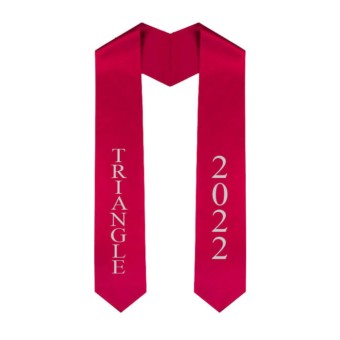 Triangle Vertical Grad Stole with Letters & Year