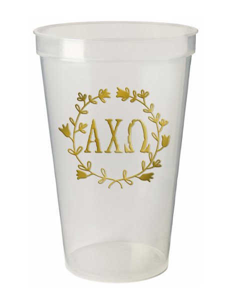 Alpha Chi Omega Wreath Giant Plastic Cup