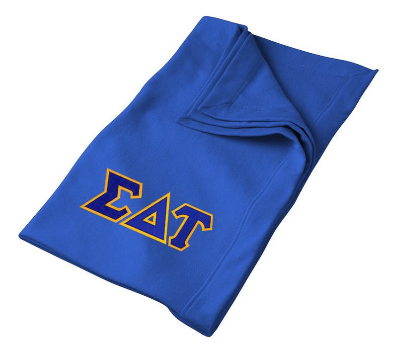 Sigma Delta Tau Greek Twill Lettered Sweatshirt Blanket