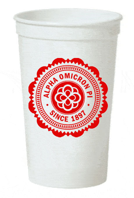 Alpha Omicron Pi Classic Oldstyle Giant Plastic Cup
