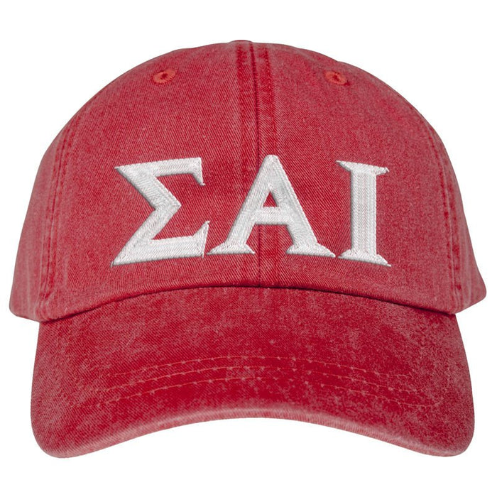 Sigma Alpha Iota Greek Letter Embroidered Hat