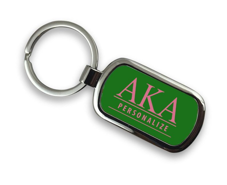Alpha Kappa Alpha Chrome Key Chain