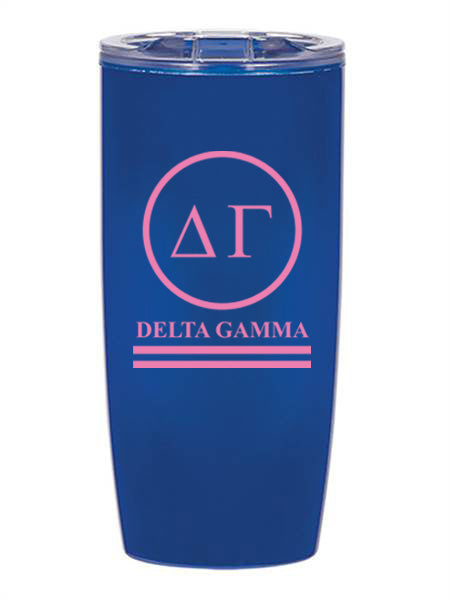 Delta Gamma Circle Stripes 19 oz Everest Tumbler