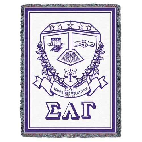 Sigma Lambda Gamma Afghan Blanket Throw