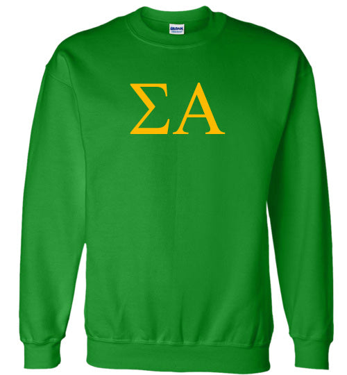 Sigma Alpha World Famous Lettered Crewneck Sweatshirt