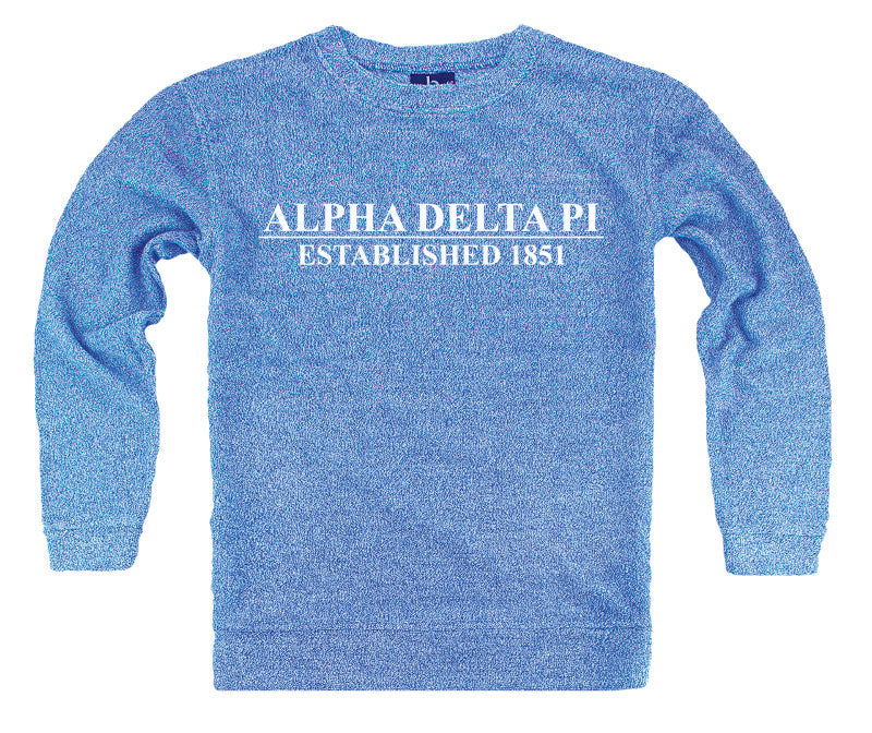 Alpha Delta Pi Year Established Cozy Sweater