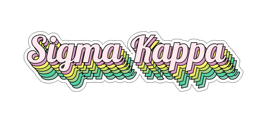 Sigma Kappa New Hip Stepped Sticker