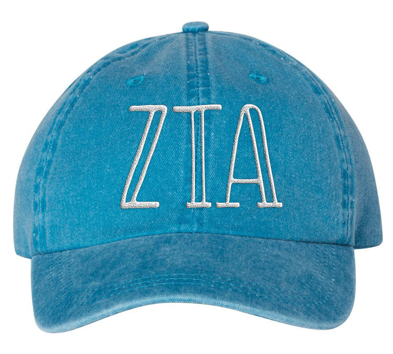 Zeta Tau Alpha Sorority Greek Carson Embroidered Hat