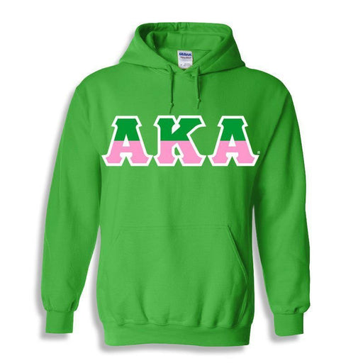 Alpha Kappa Alpha Two Toned Lettered Hooded Sweatshirt