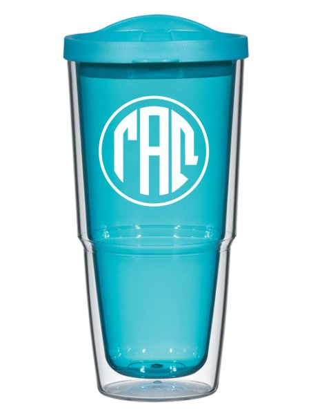 Gamma Alpha Omega Circle Arrows 24 oz Tumbler with Lid