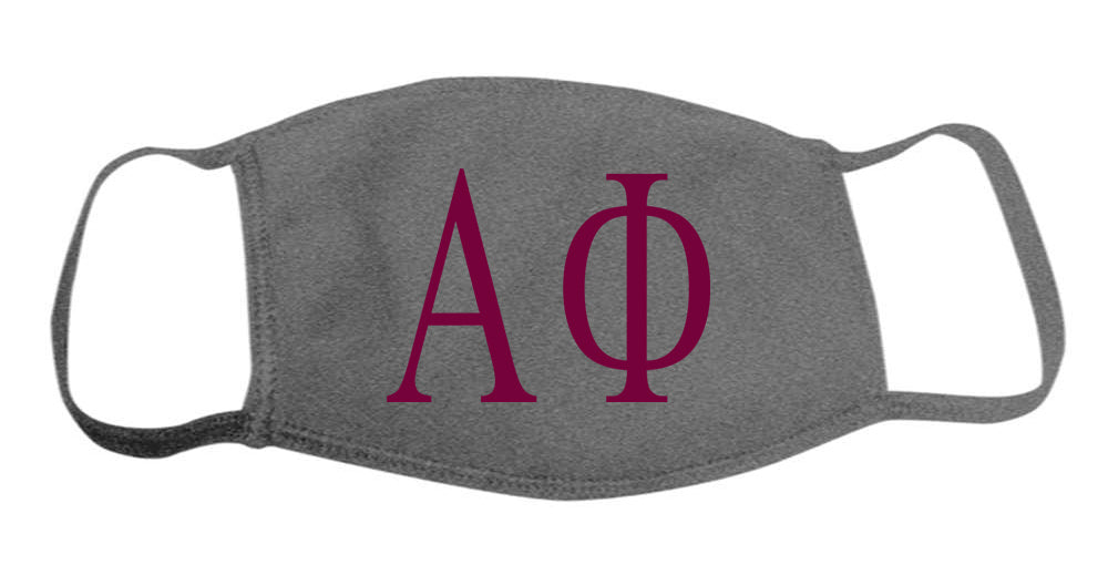 Alpha Phi Face Mask With Big Greek Letters