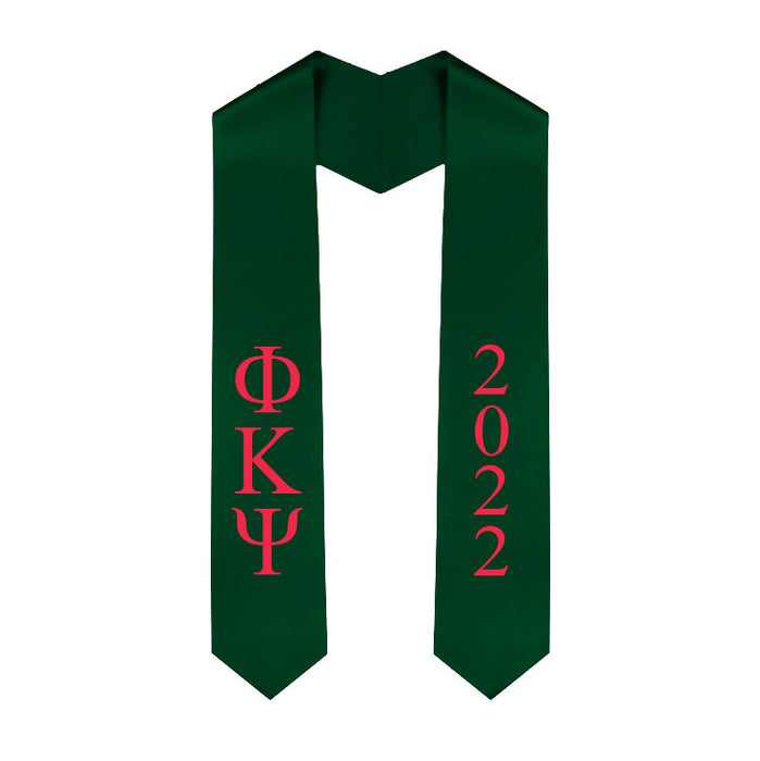 Phi Kappa Psi Vertical Grad Stole with Letters & Year