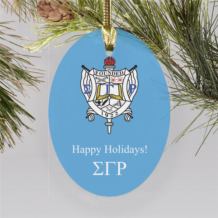 Sigma Gamma Rho Color Crest Ornament