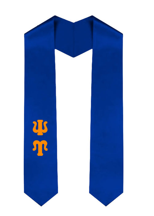 Psi Upsilon Classic Colors Graduation Stole