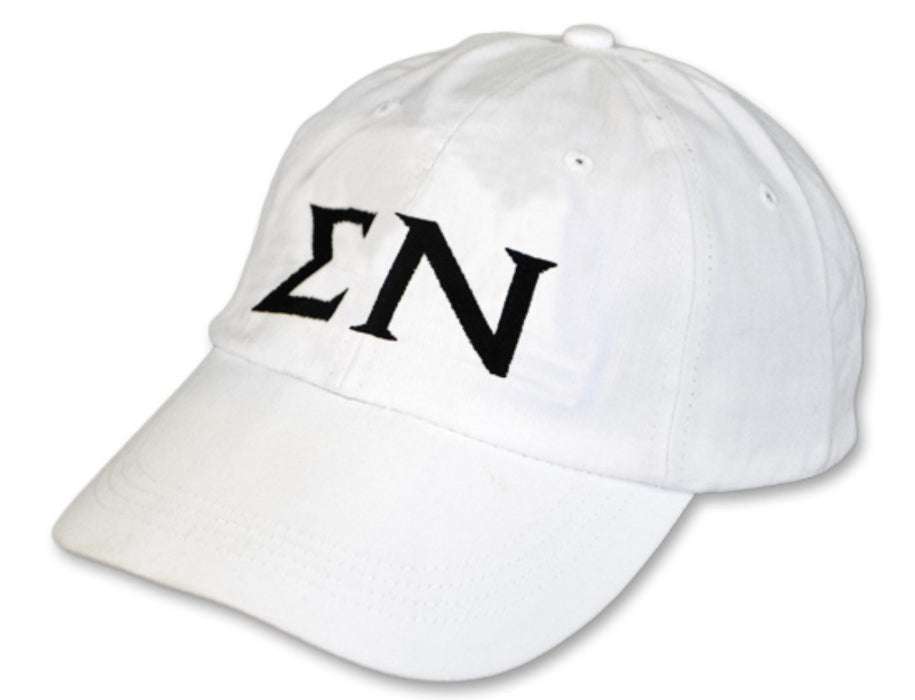 Sigma Nu Greek Letter Embroidered Hat