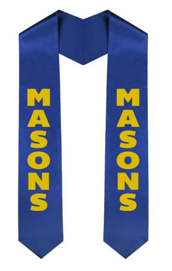Masonic Vertical Grad Stole with Letters & Year