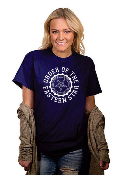 Order Of The Eastern Star Crest Crewneck T-Shirt