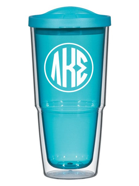 Lambda Kappa Sigma Circle Arrows 24 oz Tumbler with Lid